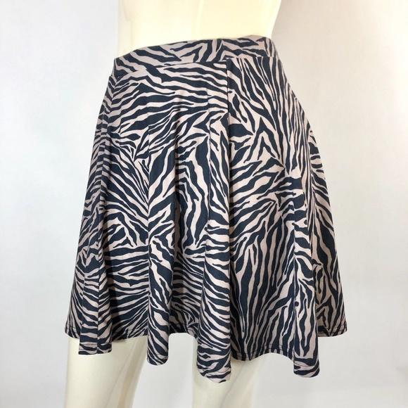 how to get shop for original diversified latest designs Topshop Zebra Print Skater Skirt